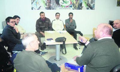 Reunión. Miembros de algunas de las asociaciones que constituyeron en Sevilla la plataforma SOSCenizo Andalucía