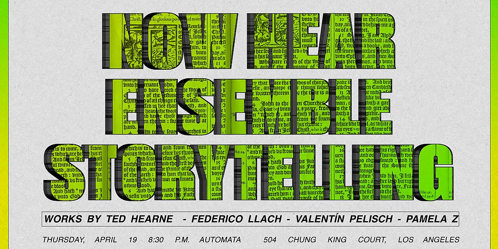 Storytelling with Now Hear Ensemble