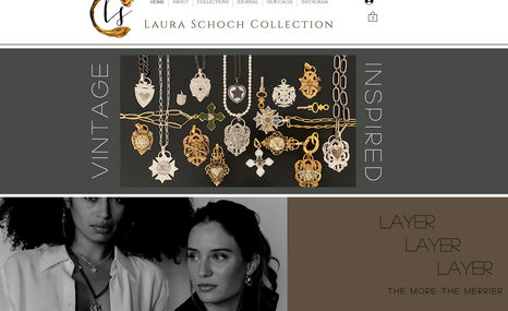 Laura Schoch Jewelry Designs Online store for vintage inspired custom jewelry, ...