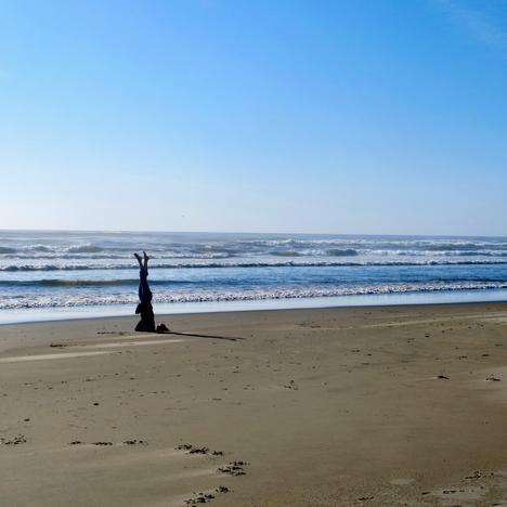 Head Stand At Beach, Anne Bergeron