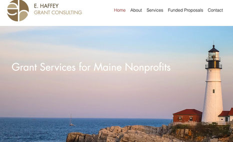 E. Haffey Grant Consulting Grant writing consultant for non-profits in Maine....