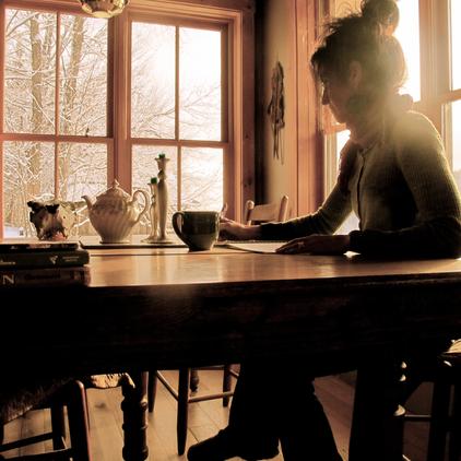 Tea and Writing, Anne Bergeron