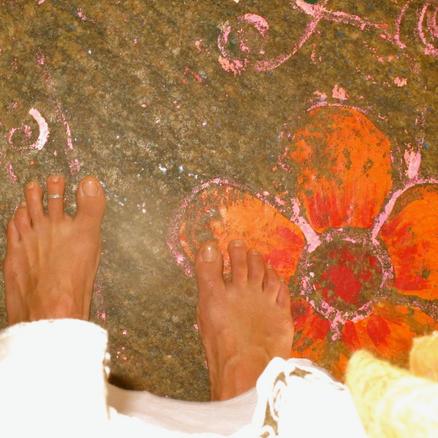 Feet and Rangoli, Anne Bergeron