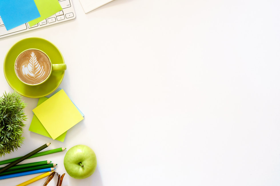 Office desktop with office accessories, used on DTB Web Design