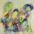 Incantation sacrée - Acrylique et pastels sur toile - 30 x 30 po
