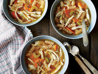 Quick Healthy Chicken Pasta Soup to warm you up and fuel your body