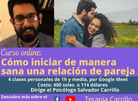 Curso individual online: Cómo iniciar de manera sana una relación de pareja