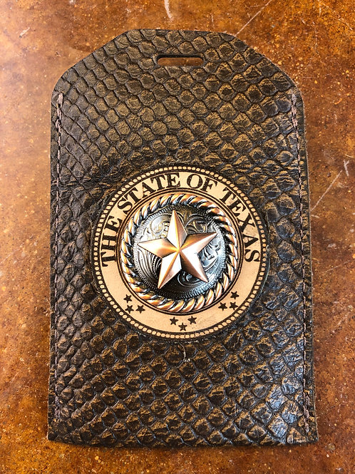 Brown Snake ID Badge Holder