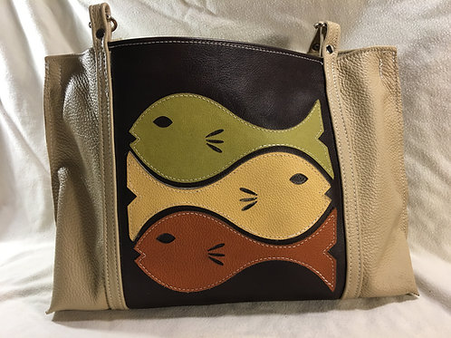 Tropical Fish Leather Handbag