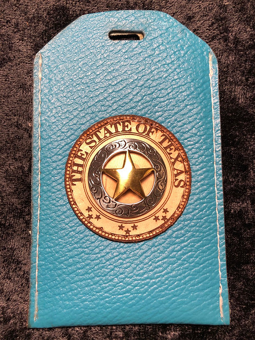 Turquoise ID Badge Holder