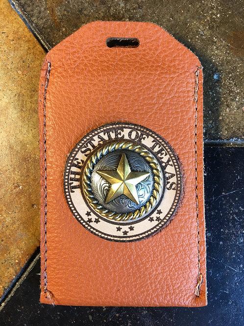 Burnt Orange Leather ID/Badge Holder