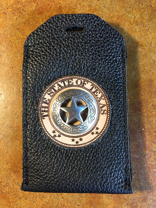 Black Leather ID/Badge Holder