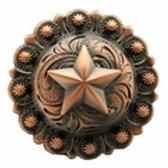 Copper Star Berry Concho