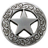 Engraved Ranger Star Concho