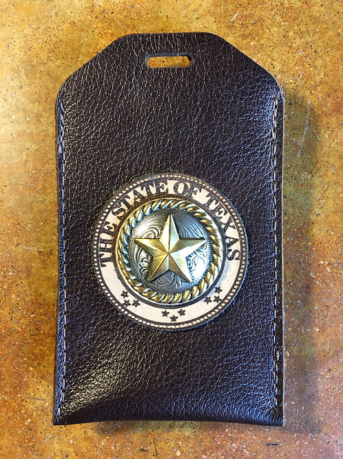 Drk. Brown Leather ID/Badge Holder