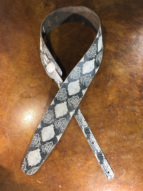 Python Embossed Guitar Strap