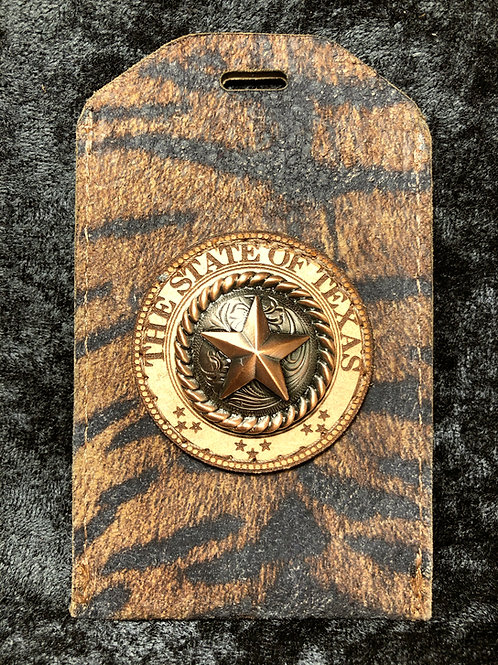 Tiger Print ID Badge Holder