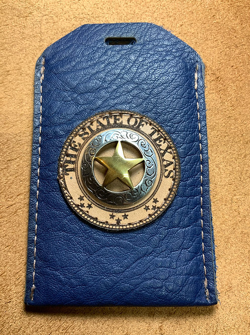 Blue ID Holder