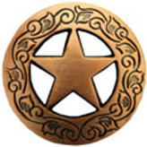 Engraved Copper Star Concho