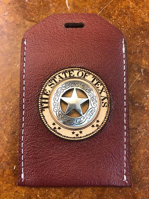 Maroon ID Badge Holder