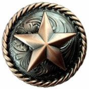 Copper Star Round Rope Edge Concho