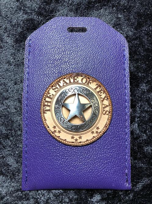 Purple ID Holder