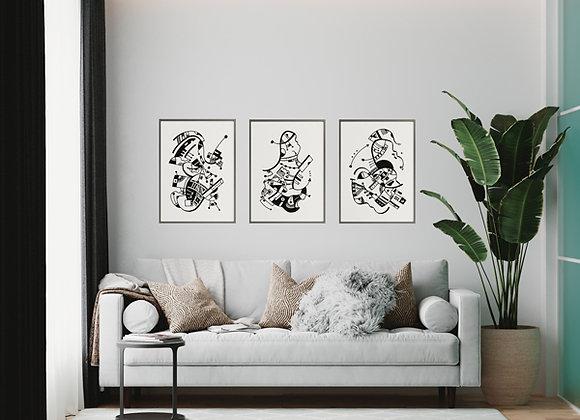 Cuadros Composición Abstracta - Artista Peruana Joana Mendiola
