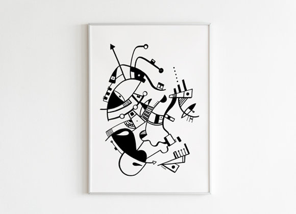 "Cuadro Abstracto ""Rostros Abstractos"" - Artista Peruana Joana Mendiola"
