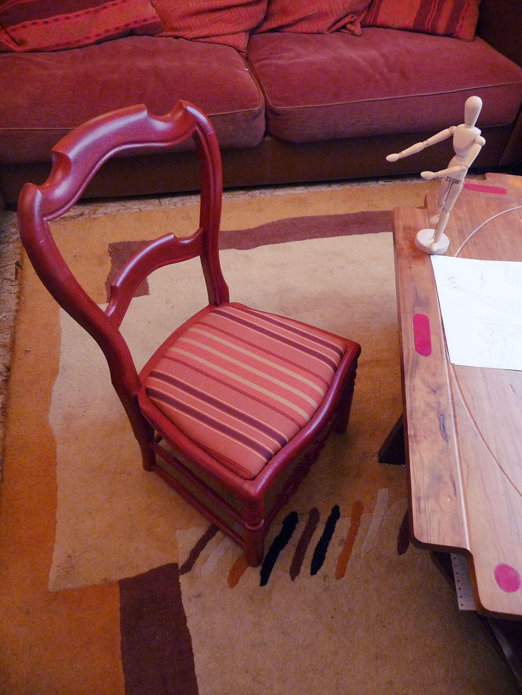 chaise enfant relookée