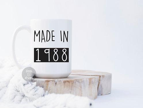 "Made In ""Custom Year"" 15 oz Coffee Mug"