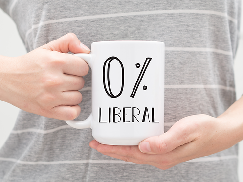 0 percent liberal coffee mug