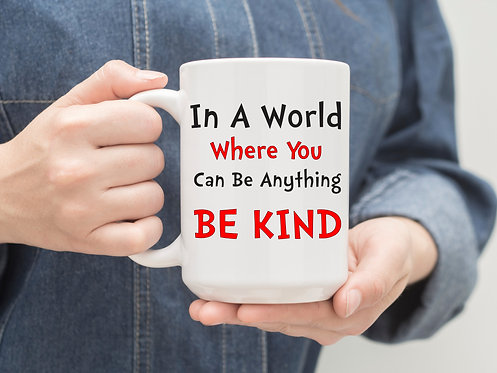teacher gift in a world where you can be anything be kind