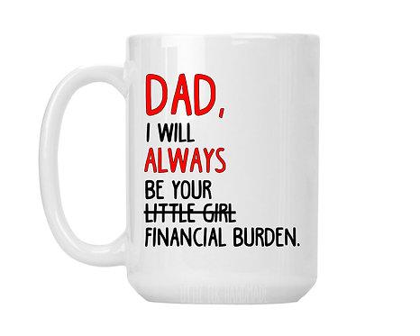 dad gift from daughter mug