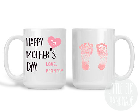 Happy 1st Mother's Day From Daughter Custom Name Coffee Mug