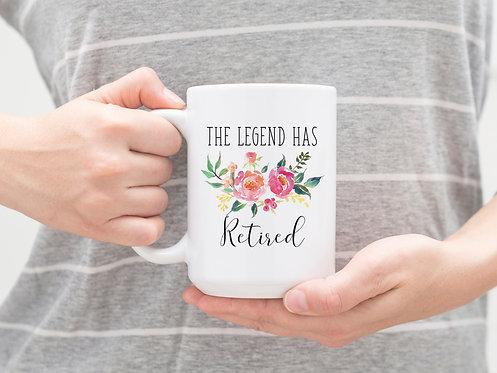 The Legend Has Retired 15 oz Coffee Mug