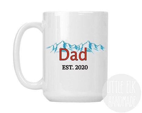 Dad Established Custom Year Coors Light Themed 15 oz Coffee Mug