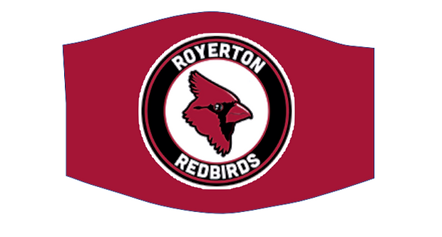 royerton redbird school face mask