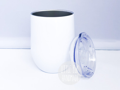 New Product Alert! 12 oz Wine Tumblers with Lid!