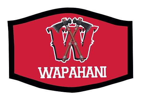 Wapahani Raiders School Theme Face Mask
