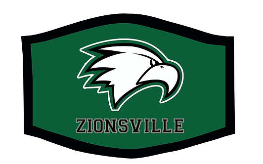 Zionsville Eagles School Theme Face Mask