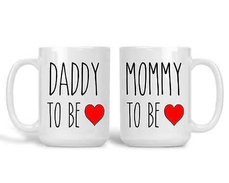 Daddy and Mommy To Be New Parent Coffee Mug