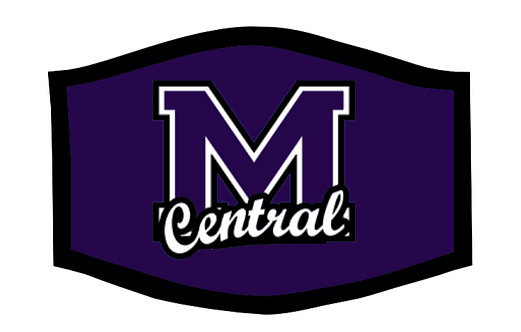 Muncie Central Bearcats School Theme Face Mask