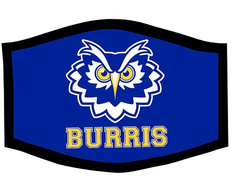 Burris Owls School Theme Face Mask