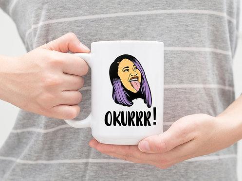 cardi b coffee mug