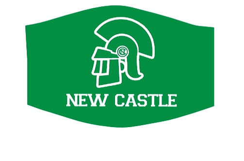 New Castle Trojans School Theme Face Mask