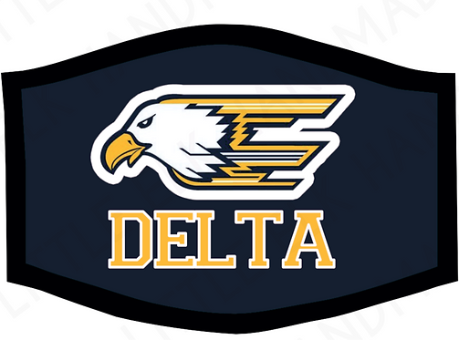 Delta Eagles School Theme Face Mask