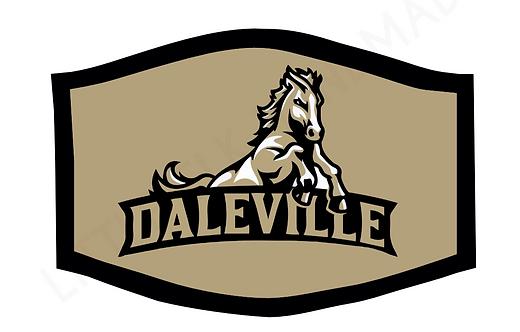 Daleville Broncos School Theme Face Mask