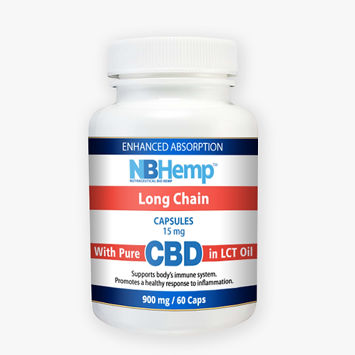 CBD Oil Capsules (60 Counts), 900mg, Enhanced Absorption