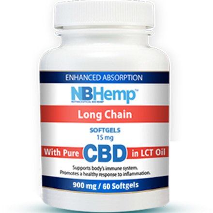 CBD Oil SoftGel Capsules (60 Counts), 900mg, Enhanced Absorption