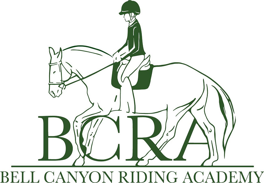 Bell Canyon Riding Academy teacher Kian Galli and student with horse Mia for brushing